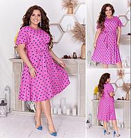 Платье летнее женское в горошек, с 50-56 размер, фото 1