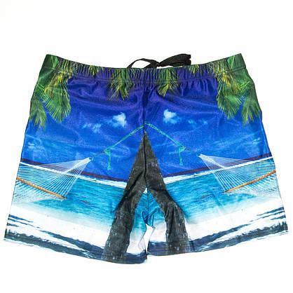 Мужские купальные шорты (арт. 20183) XXL-XXXL с пальмами, фото 3