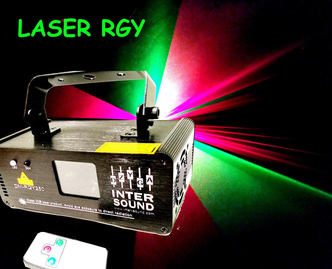 Лазерный проектор с пультом ДУ. DM-RGY250. Диско лазер