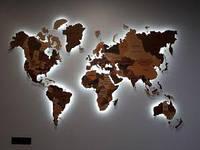 Карта с подсветкой Woody 2.20х1.5 м