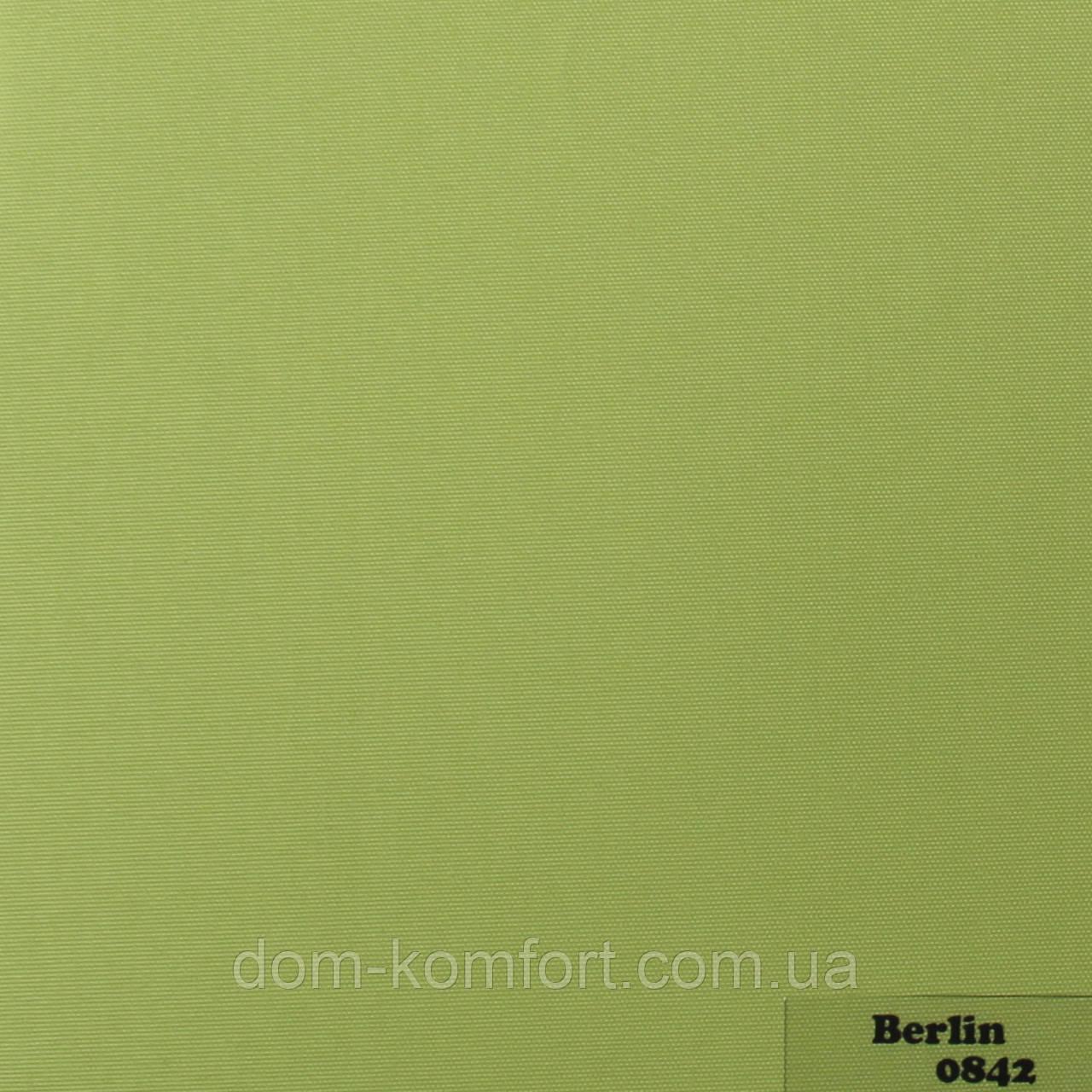 Рулонные шторы Ткань Берлин Зелёный Лист 0842
