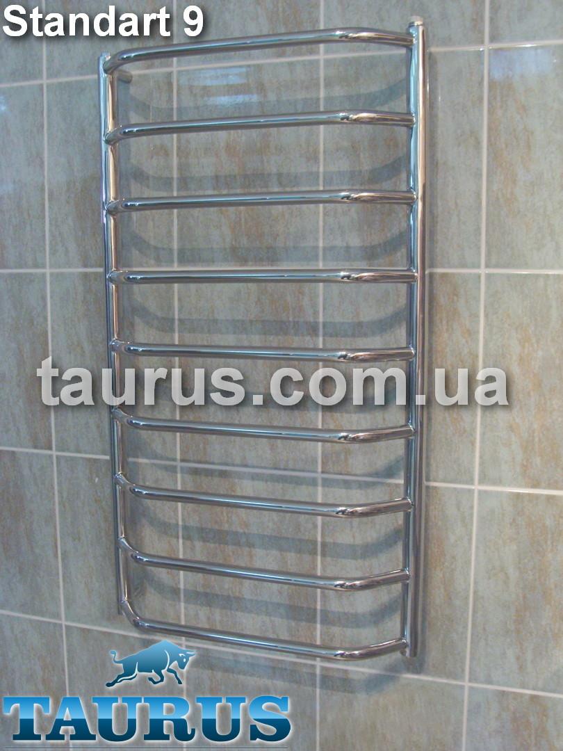 Полотенцесушитель из н/ж стали Standart 9/950х500 от TAURUS Украина. Перемычка трапецией из трубы 20