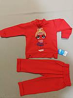 Красный лёгкий костюм  для девочки  до годика, фото 1