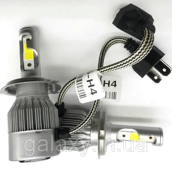 Лампы LED C6 цоколь H4 комплект 2 штуки 3800lm 6000К