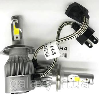 Авто лампи світлодіодні C6H4 комплект 2 штуки 3800lm 6000К LED цоколь лампи H4