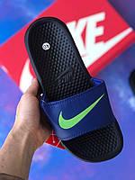 Сланцы/шлепки Nike(синие)/ шлепки/ тапки найк/шлепанцы/тапочки