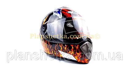 Шлем для мотоцикла Hel-Met 180 черный с девушкой, фото 2