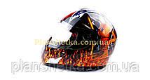 Шлем для мотоцикла Hel-Met 180 черный с девушкой, фото 3