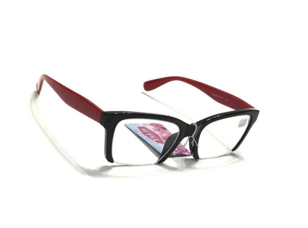Молодёжные очки для зрения, полуоправные +1.0
