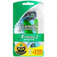 Мужские одноразовые станки Wilkinson Sword Xtreme Sensitive 3+1 free 01307