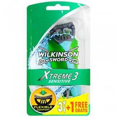 Мужские одноразовые станки Wilkinson Sword Xtreme Sensitive 3+1 free 01278