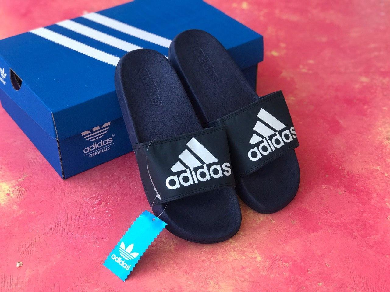 Сланцы Adidas шлепанцы мужские Синие