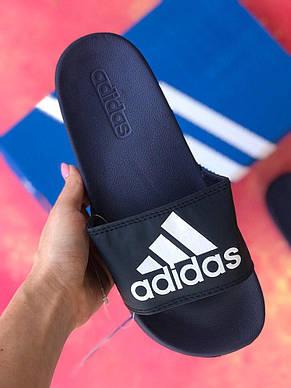 Сланцы Adidas шлепанцы мужские Синие, фото 3