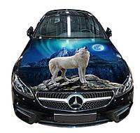 Наклейка на капот винил 3D Design House Волк 3 универсальная 3651