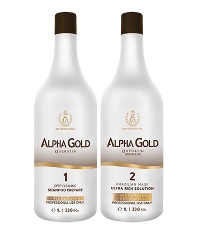 Нанопластика для волос Alpha Gold ESK Professional, набор 2х500 мл