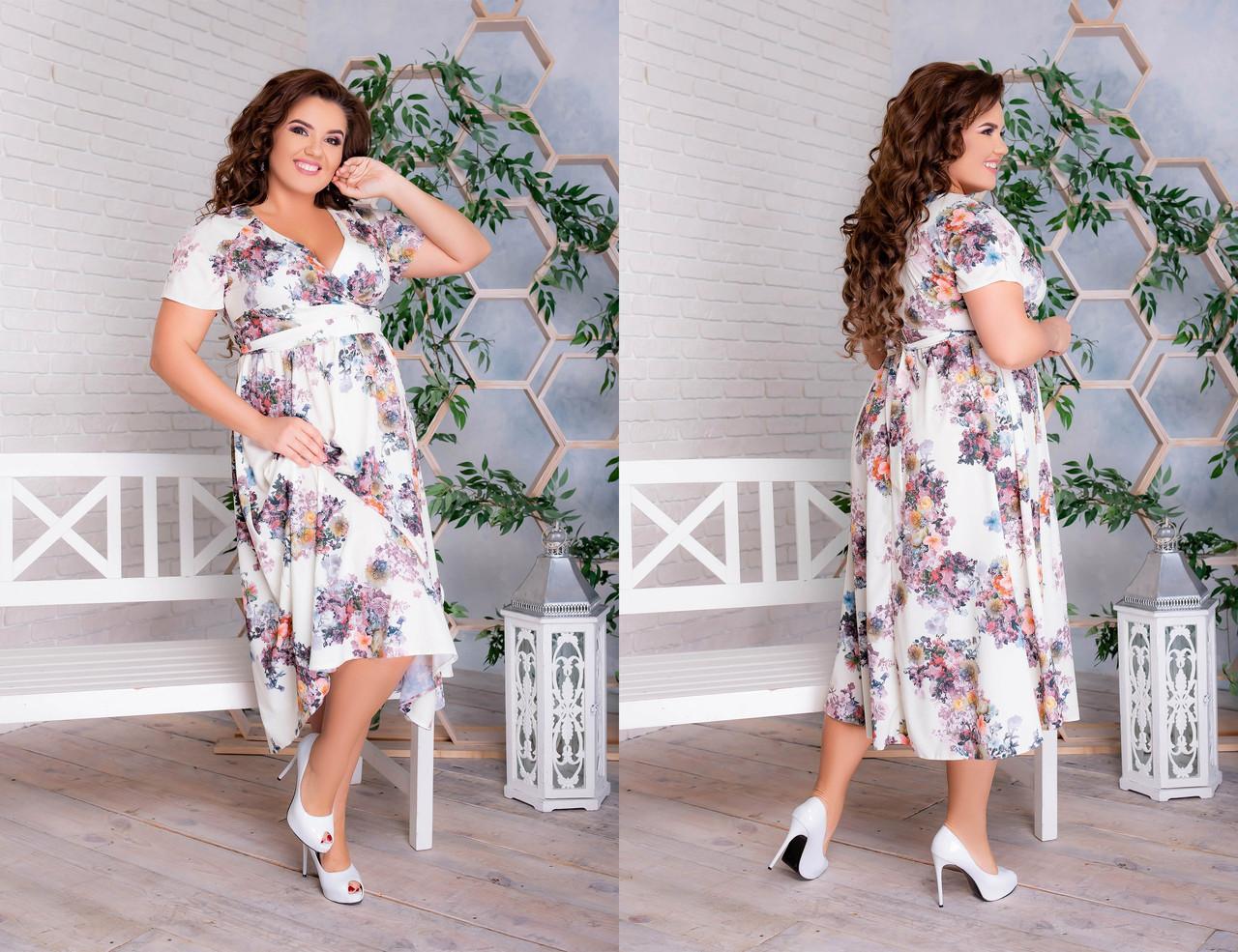 Женское платье большого размера.Размеры:48-62.+Цвета