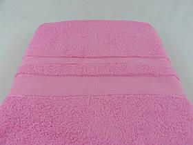 Махровая простынь 200х200, розовая, хлопковая