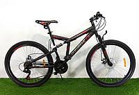 Горный двухподвесный велосипед Azimut Dinamic 26D/Азимут Динамик/рама 18,5/дисковые тормоза