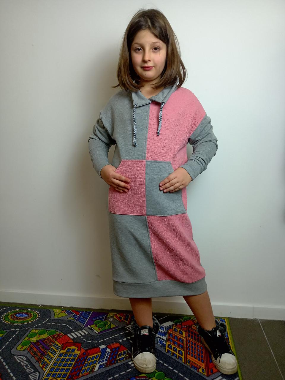 Платье-худи для девочки