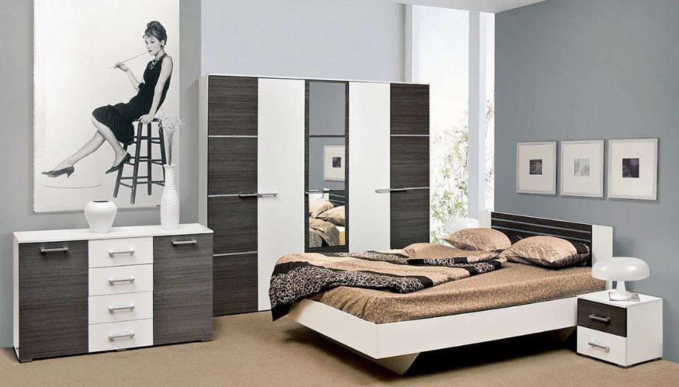 Спальня Круїз комплект з 3Д шафою. Світ Меблів.