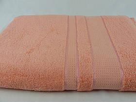 Махровая простынь 150х200, персиковая, хлопковая