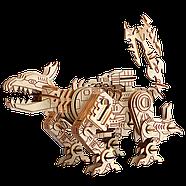 Конструктор 3D деревянный робот дракон, фото 2