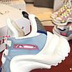 Бело-голубые кроссовки Louis Vuitton, фото 4