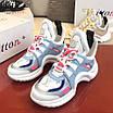 Бело-голубые кроссовки Louis Vuitton, фото 6