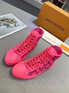 Розовые кеды Louis Vuitton