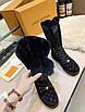 Ботинки Louis Vuitton|Женские кожаные ботинки Луи Виттон на меху черного цвета замшевые, фото 4