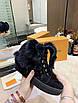 Ботинки Louis Vuitton|Женские кожаные ботинки Луи Виттон на меху черного цвета замшевые, фото 5