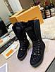 Ботинки Louis Vuitton|Женские кожаные ботинки Луи Виттон на меху черного цвета замшевые, фото 6