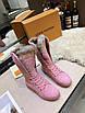 Кроссовки Louis Vuitton Женские розовые ботинки на меху Louis Vuitton Луи Виттон, фото 2
