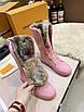 Кроссовки Louis Vuitton Женские розовые ботинки на меху Louis Vuitton Луи Виттон, фото 3