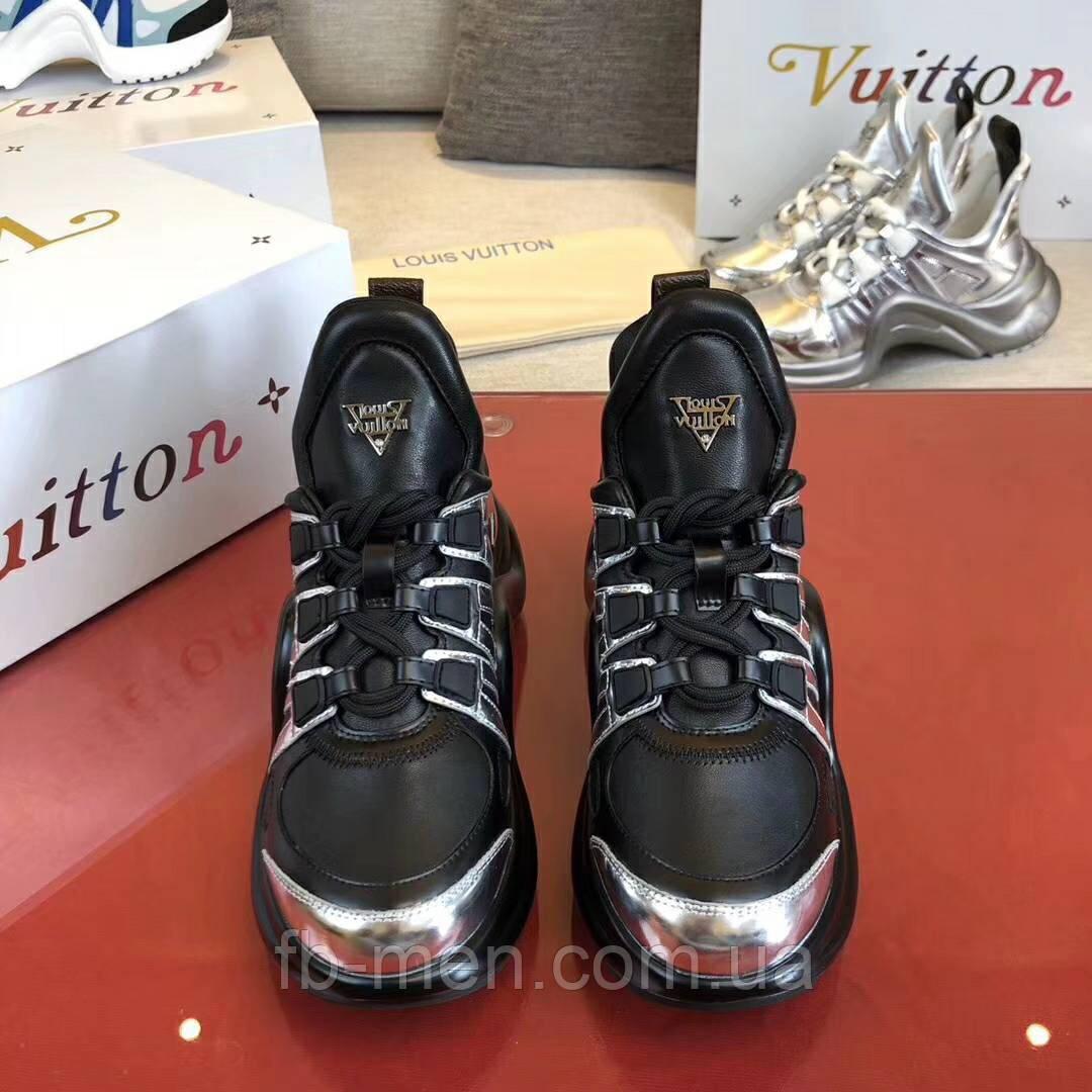 Черно-серебряные кроссовки Louis Vuitton
