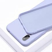 Силиконовый чехол SLIM на Samsung A70 Lilac