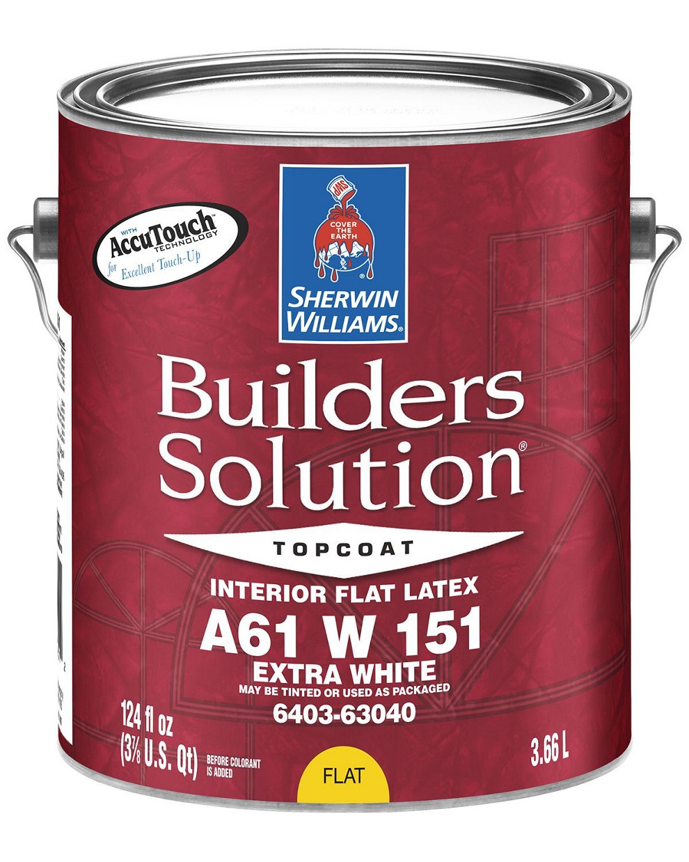 КРАСКА BUILDERS SOLUTION FLAT (Глубокоматовая) Extra White Sherwin Williams, (3,78 л)