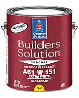КРАСКА BUILDERS SOLUTION FLAT (Глубокоматовая) Extra White Sherwin Williams, (3,78 л)