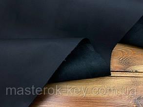 Кожа натуральная обувная Спил Конь т.1-1,3мм (Плотная) цвет Черный мат