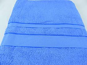 Махровая простынь 150х200, синяя, хлопковая