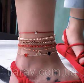 Браслет на ногу шамбала ножной браслет
