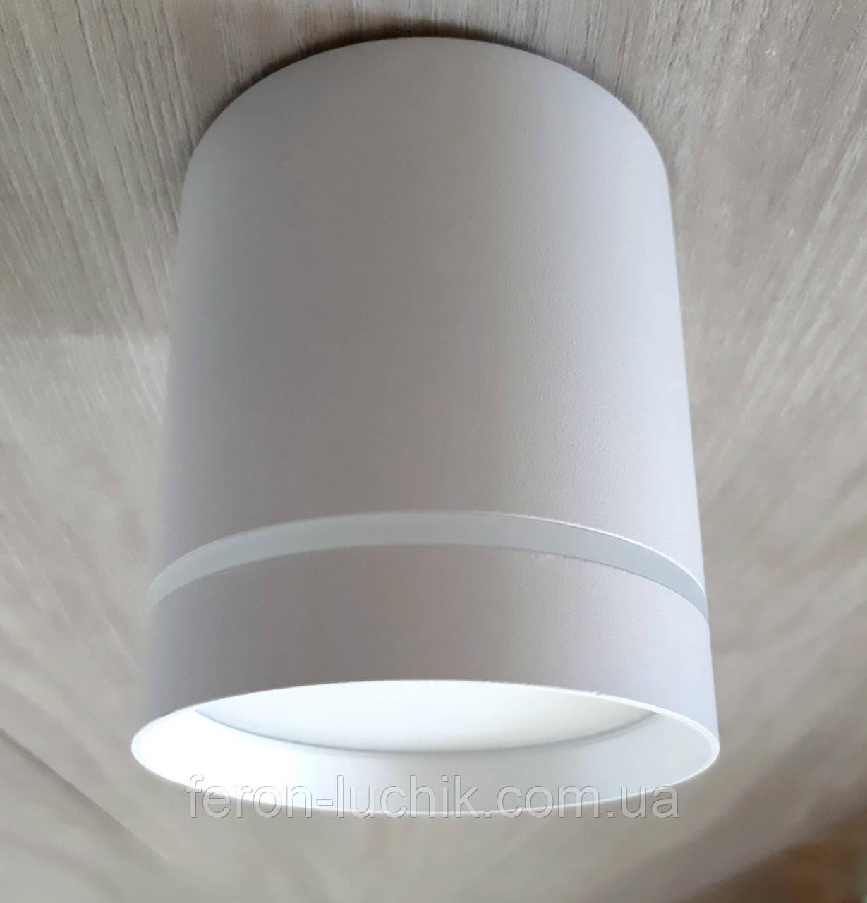 Потолочный светильник LED Feron AL543 10W 4000K точечный накладной светодиодный цилиндр Белый