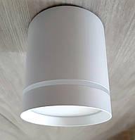 Потолочный светильник LED Feron AL543 10W 4000K точечный накладной светодиодный цилиндр Белый, фото 1