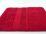 Махровая простынь 150х200, бордовая, хлопковая, фото 2