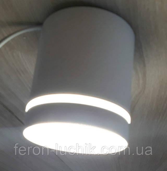 Накладной точечный светильник Feron AL543 10W LED Белый потолочный для натяжного потолка, гипсового, пластика.