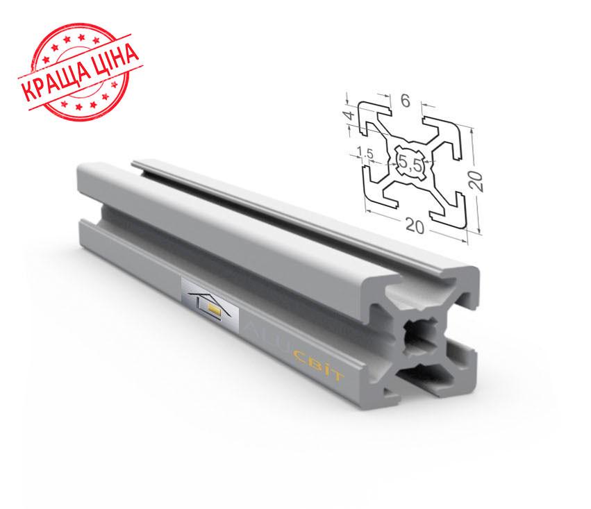 Алюминиевый конструкционный станочный профиль 20х20 анодированный