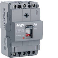 Автоматический выключатель x160, 100А, 3п, 18kA, Тфикс./Мфикс, Hager