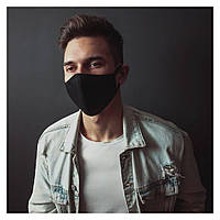 Маска на лицо Бафф K-Pop VIM Clasic Black Ninja Черная Ниндзя