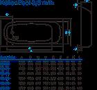 Ванная пристенная Koller Pool стальная 2,5 мм, фото 3