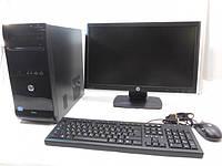 Компьютер в сборе, Intel Core i3 4370, 4 ядра по 3,8 ГГц, 16 Гб ОЗУ DDR-3, HDD 500 Гб, видео 1 Гб, мон 19 16:9, фото 1